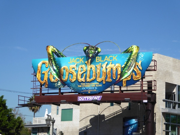 Praying Mantis Goosebumps movie billboard