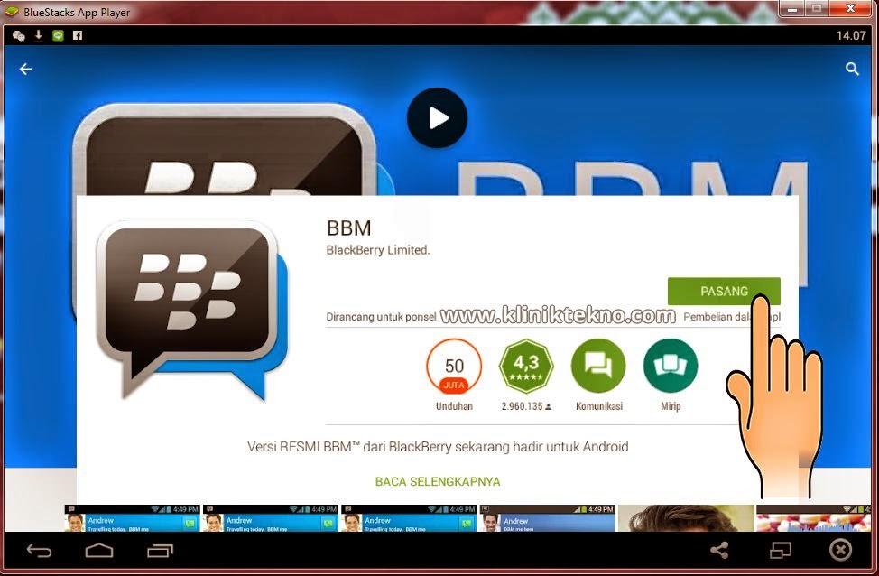 Cara Terbaru Instal Aplikasi BBM Android Di PC