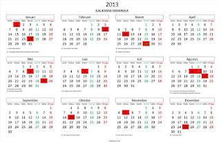 Kalender Tahun 2013 terbaik