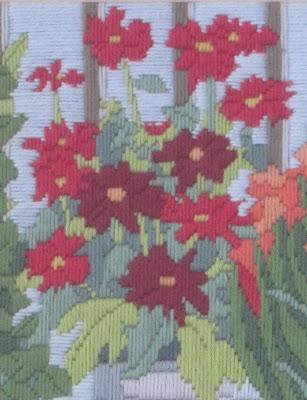 Detalle del bordado de flores