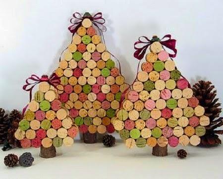 Centres de Table pour Noël avec des Matériaux Recyclés