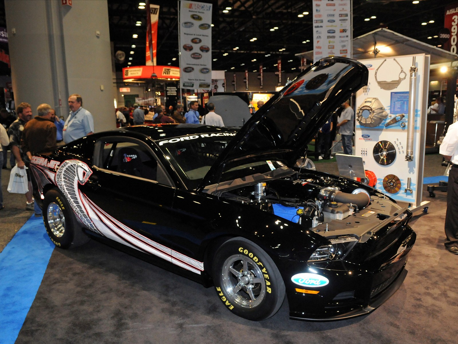 The 2013 cobra jet offers two 5 0 liter ti vct engine options customers may choose a naturally aspirated engine with cobra jet induction system