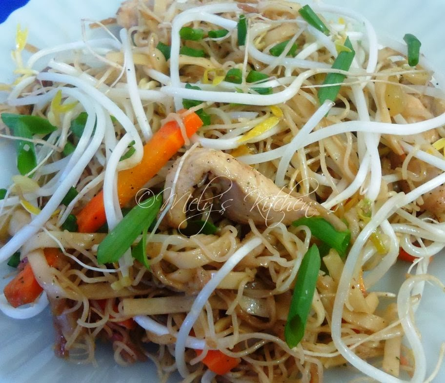 Rice Noodles With Bean Sprouts Rice Noodles With Sprouted