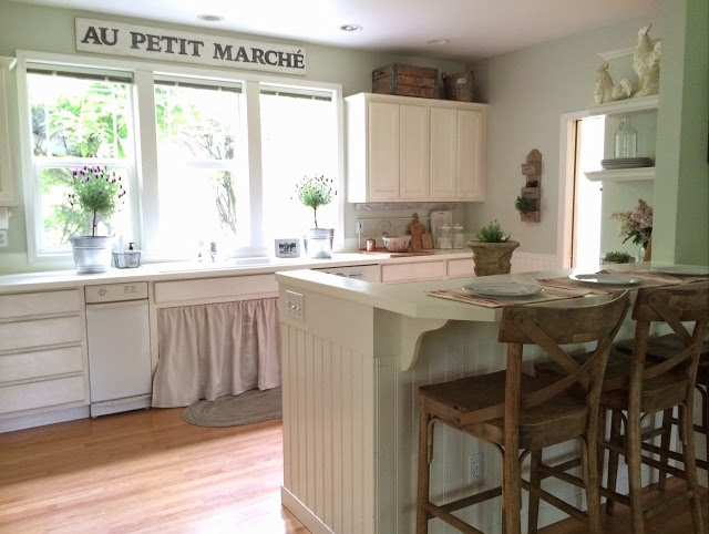 Little Farmstead Farmhouse Kitchen Makeover- Treasure Hunt Thursday- From My Front Porch To Yours