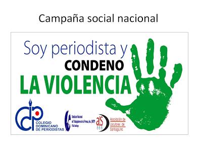LOS PERIODISTAS PROFESIONALES FILIAL MARIA TRINIDAD SANCHEZ ,CONDENAMOS  LA VIOLENCIA.