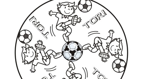 Malvorlagen zum Ausmalen: Fußball-Mandala zum Ausmalen