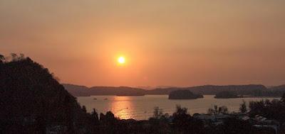 Sunset view in Krabi Thailand