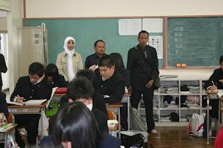 Kunjungan guru pertanian(muhammad sp) ke setanorin high school -gunma