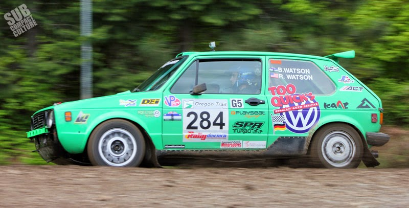 Fast VW Rabbit rally car