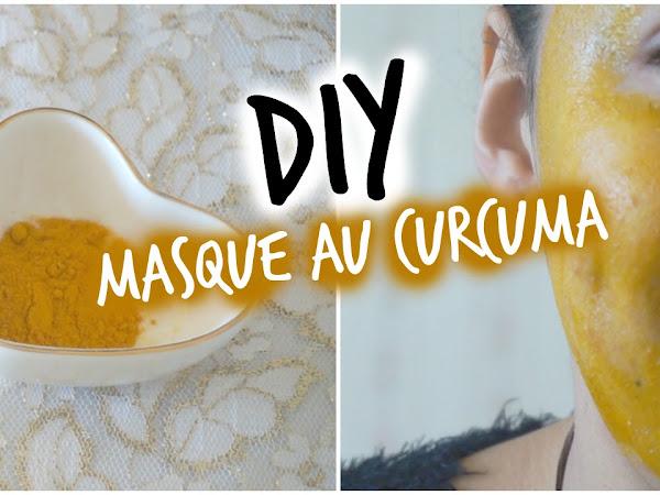 Masque Visage au Curcuma pour Acné, Teint et Cicatrice