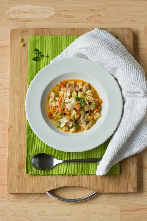 receta de sopa minestrone (de verduras y bacon)