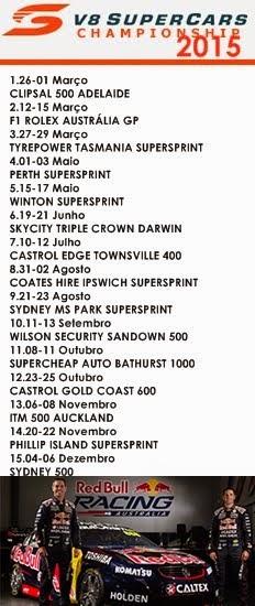 V8 SUPERCARS - Calendário