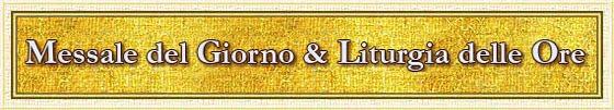 Messale e liturgia delle ore