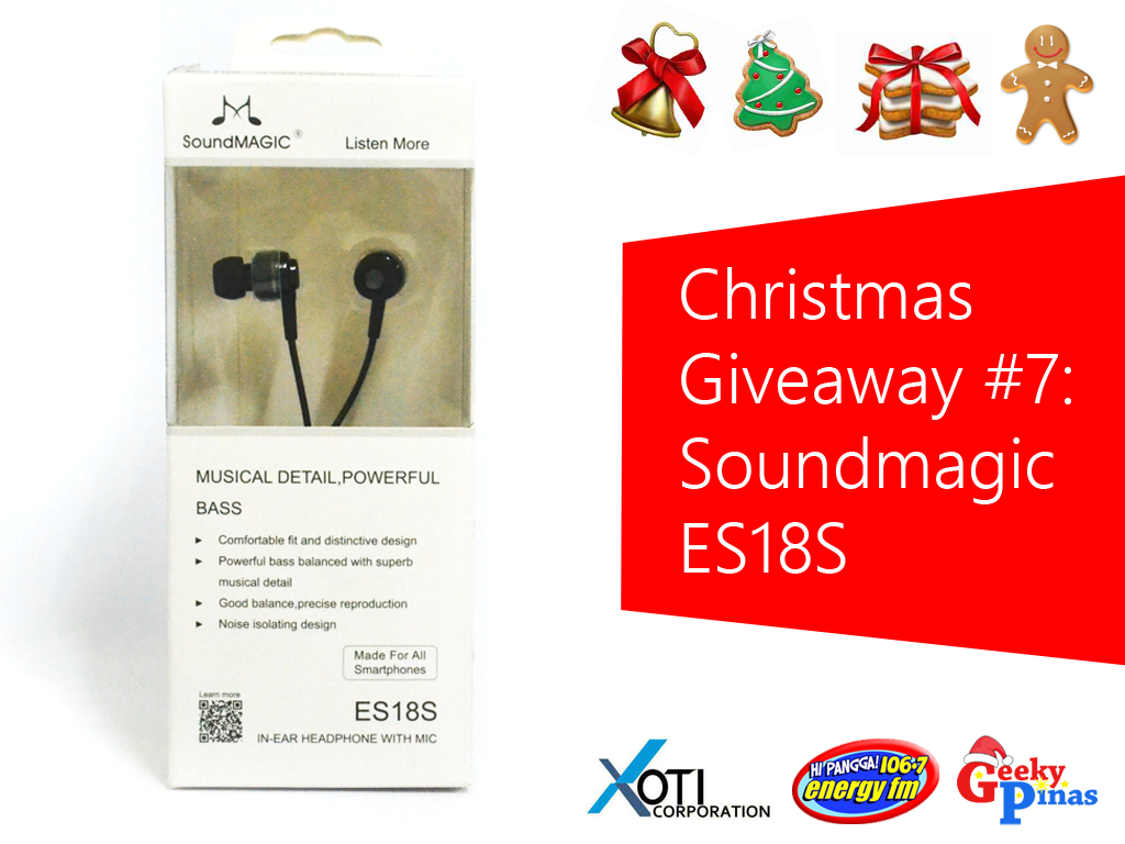 Christmas Giveaway # 7: Soundmagic ES18S