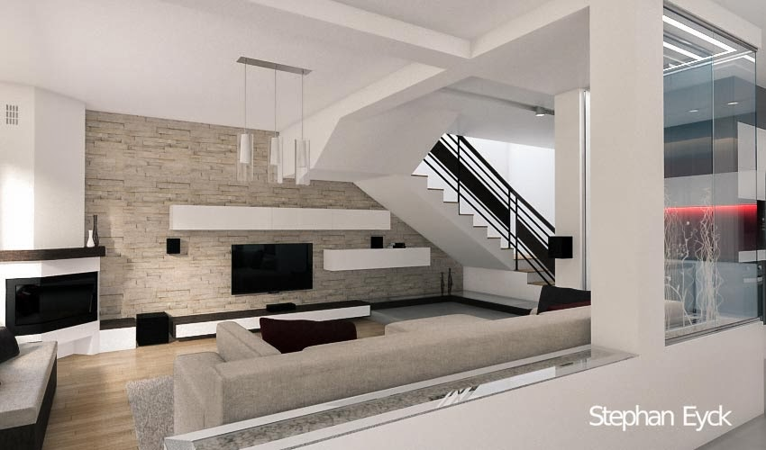 Design interior bucatarie si living casa a d brasov for Architecture si