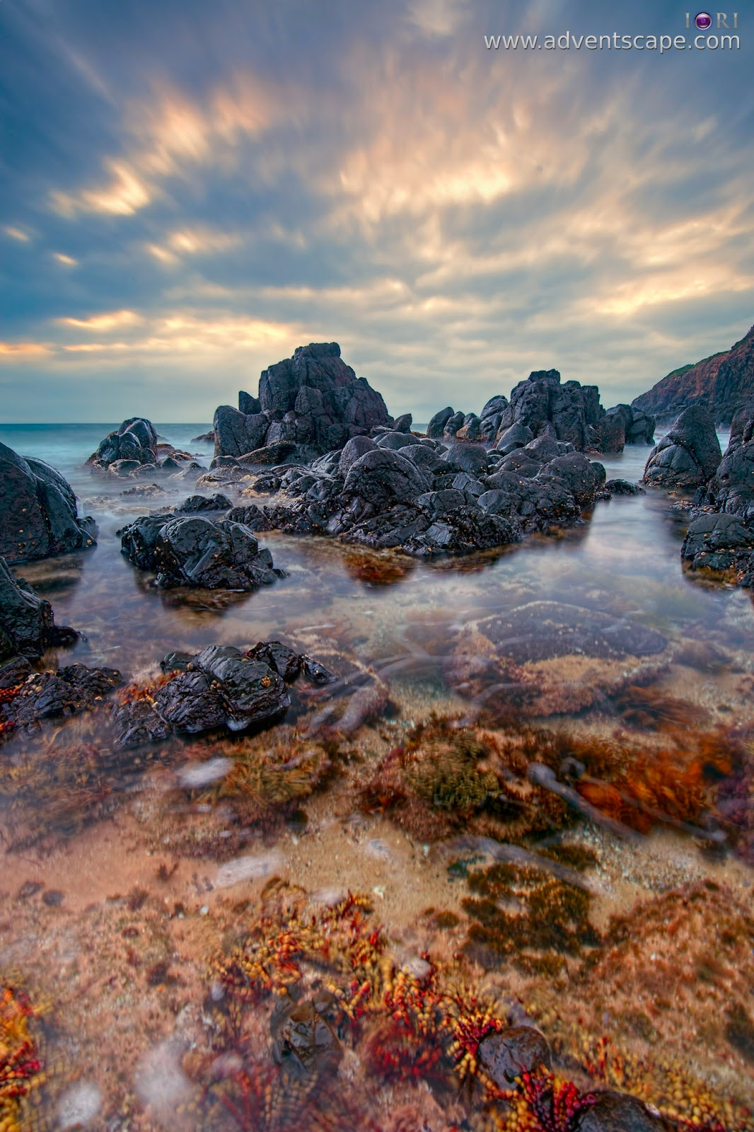 Philip Avellana, Australian Landscape Photographer, adventscape, CPL, circular polarizer, effect, see through, Minnamurra, Kiama, NSW, New South Wales, Australia, beach