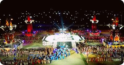 5 Suku Perwakilan Wilayah di Papua Niugini Menari di Pembukaan Pasific Games 2015