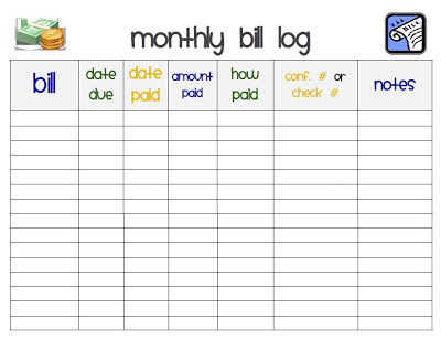 Free Printable Monthly Bill Payment Worksheet | Search Results ...