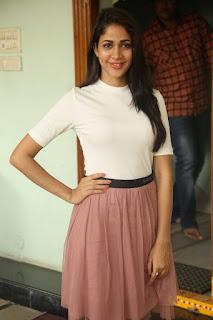 Lavanya Tripathi Spicy Tight White Top and Mini Skirt Stunning Cute Beauty