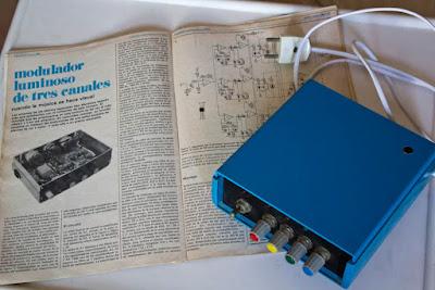 Organo de luces sicodélicas Elektor 1982