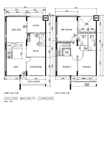Butterpaperstudio reno tohyi maisonette floorplan for Maisonette plans