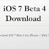Torrent/Direct Download Links of iOS 7 Beta 4 IPSW Firmware for iPhone, iPad & iPod