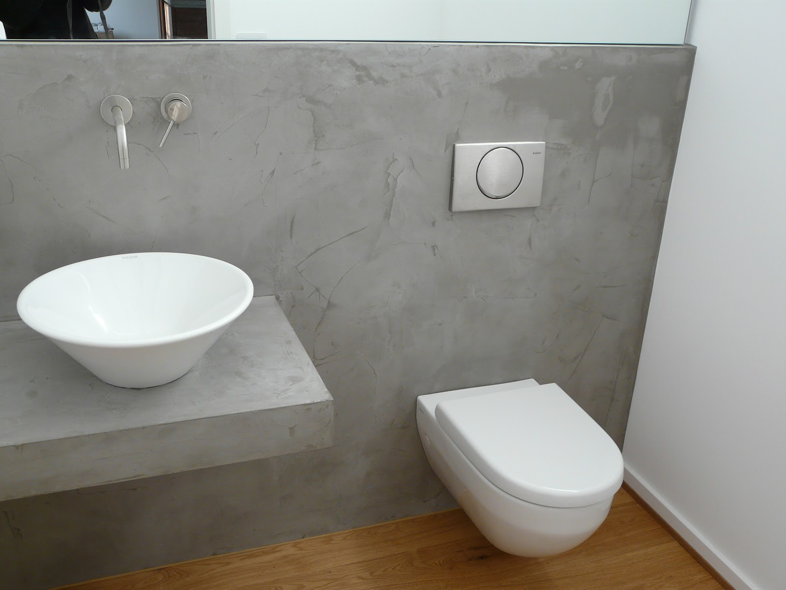 Wand wohndesign beton cire november 2011 - Wand in betonoptik ...