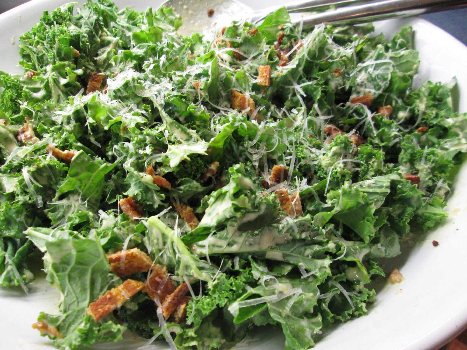 The Stimpson Soup Kitchen: Kale Caesar Salad