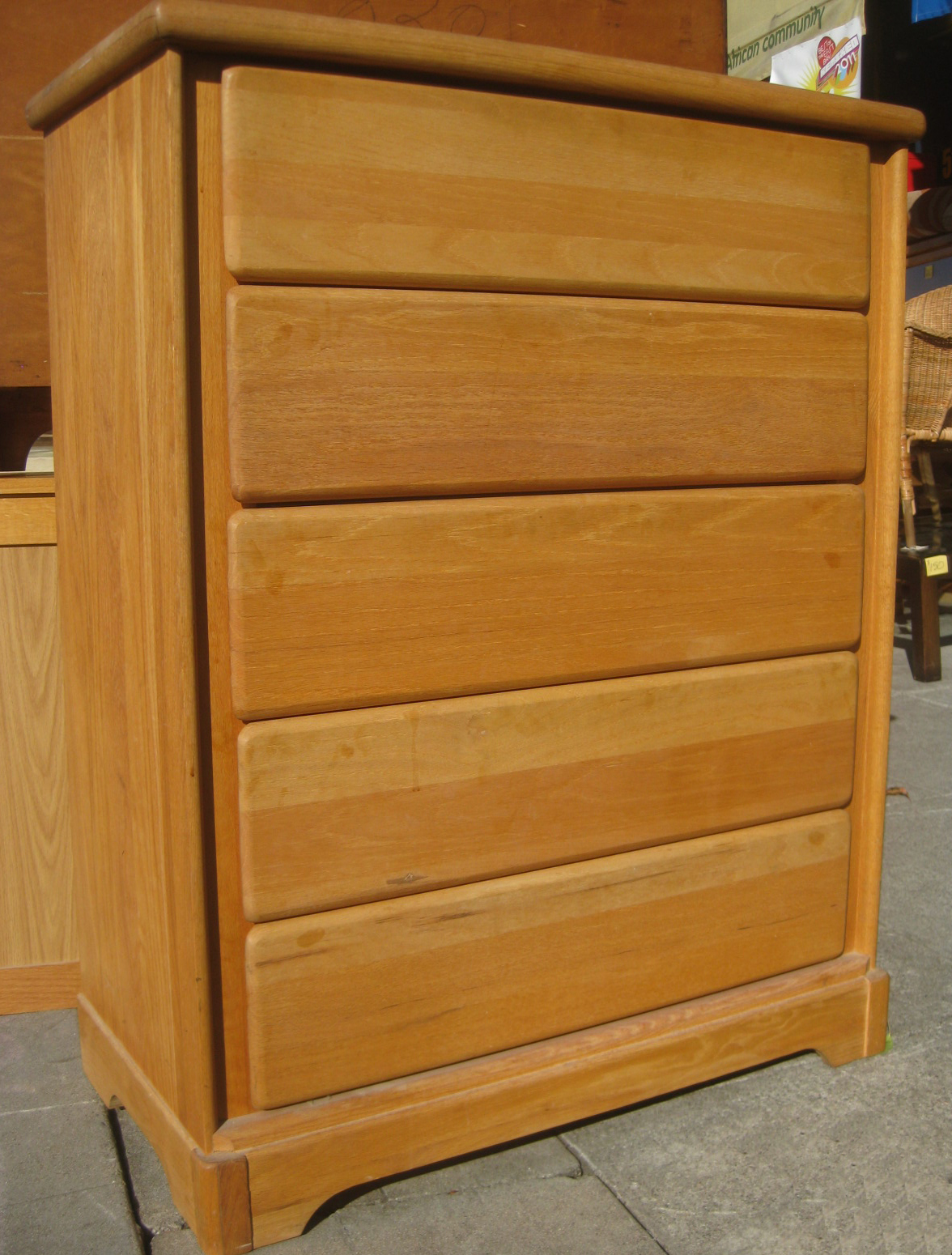 Uhuru furniture collectibles solid wooden chest of drawers