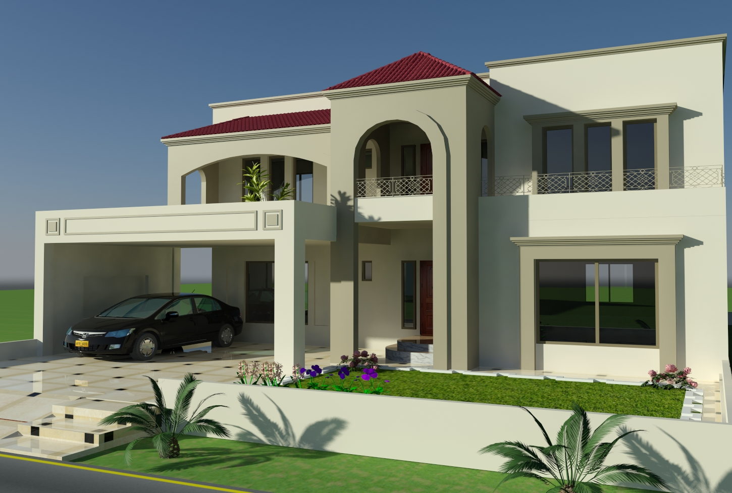Front elevation of bungalows in islamabad pakistan joy for Bahria town islamabad home designs