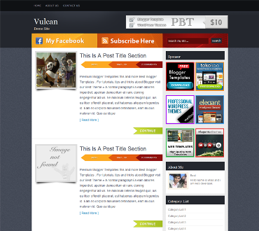Vulcan blogger template blogger templates 2013 for Free html blog templates