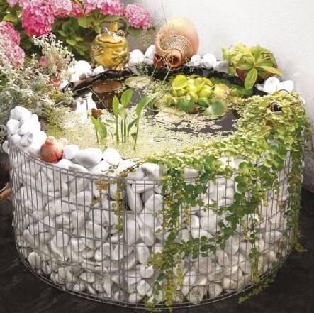 Muebles y decoraci n de interiores jardin piedras como for Piletas para jardines pequenos