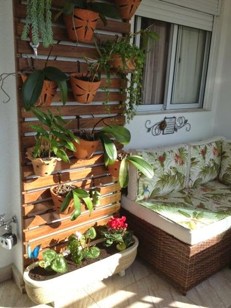 jardim vertical tecido:Decoração: a varanda dos sonhos – Jeito de Casa – Blog de