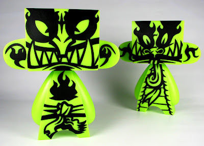 ONI Custom Glow in the Dark 10 Inch Mad'l Vinyl Figures by MAD - Demon & Dragon