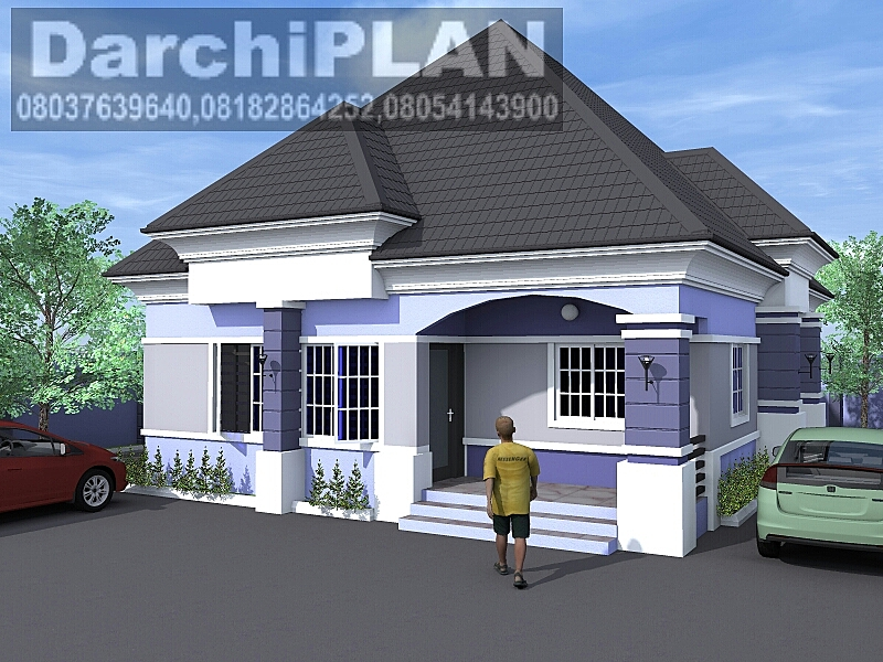 Nigeria building style architectural designs by darchiplan for Four bedroom bungalow