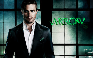 Stephen Amell Arrow in Suit HD Wallpaper