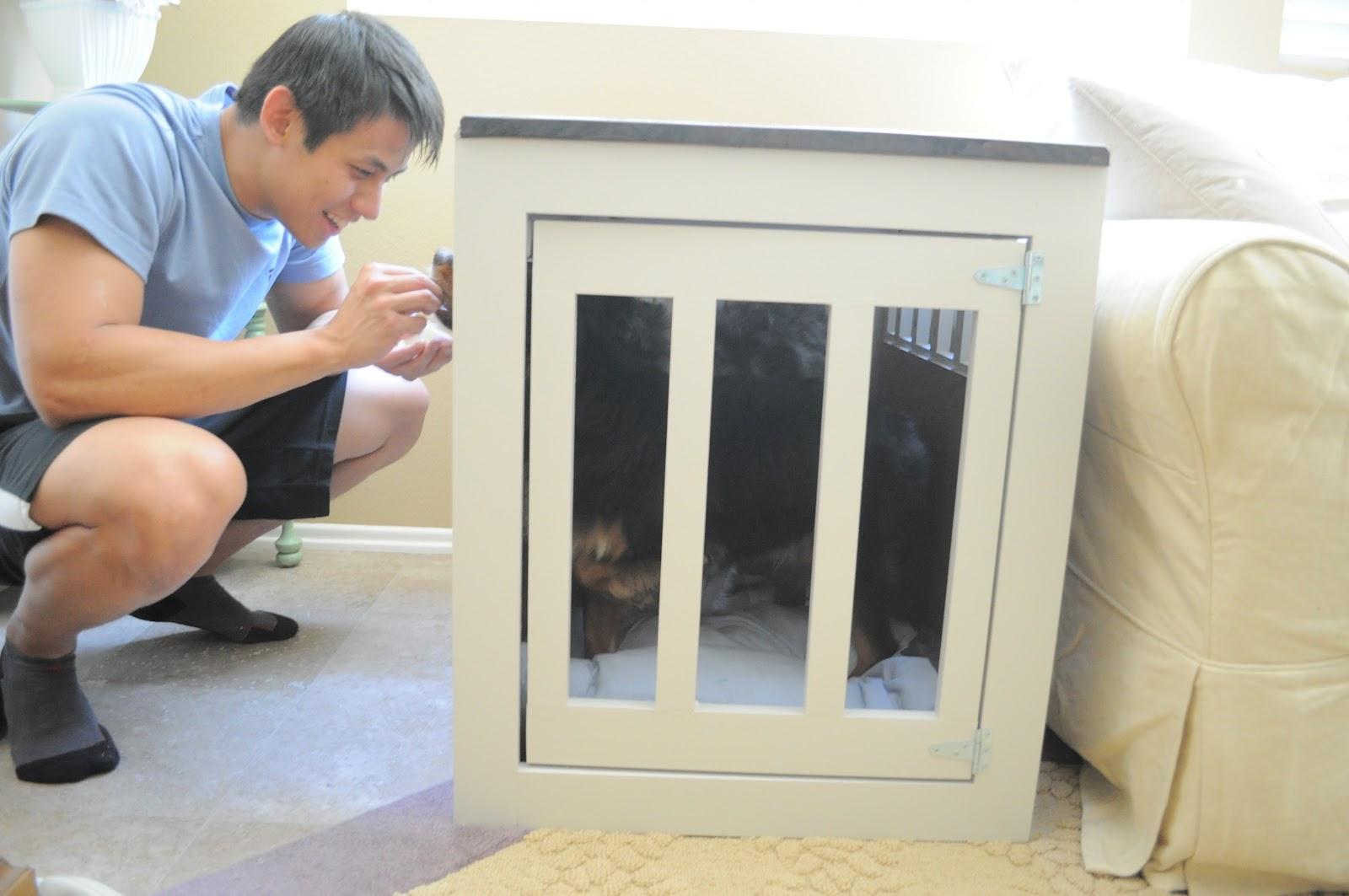 ... end postpone great looking chase after dog house end table pallets