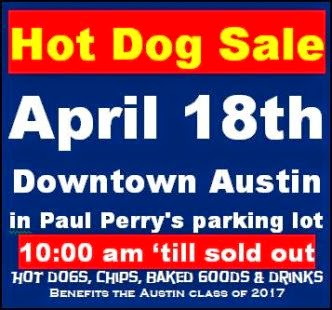 4-18 Hot Dog Sale, Austin, PA