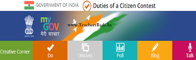 MyGov,PM National Contest,Duties of a Citizen