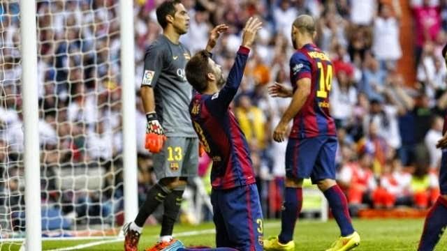 بيكيه يشكك في صحة ركلة الجزاء ضده ويعترف : ريال مدريد يستحق الفوز