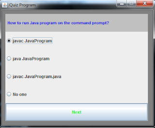Quiz program in Java