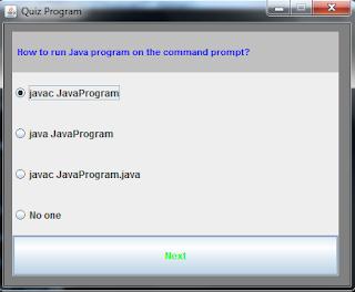 Quiz program in Java