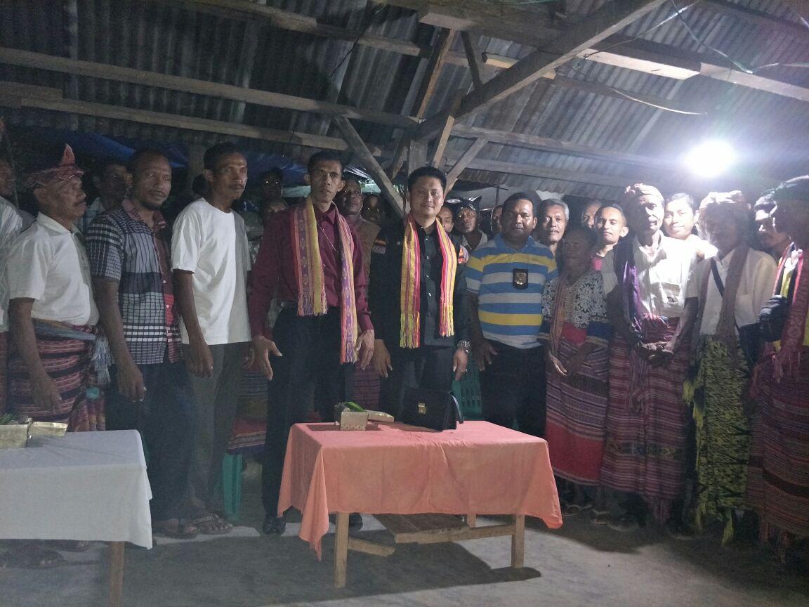 Kedatangan Indranas Gaho Selaku Presiden KPK Disambut Adat Malaka