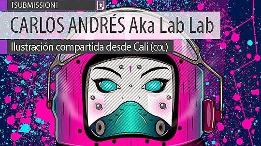 Ilustración. Cosmonauta de CARLOS ANDRÉS Aka Lab Lab