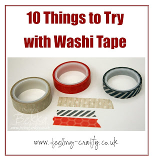 10 things to try with Washi Tape - check out this blog for lots of great ideas!