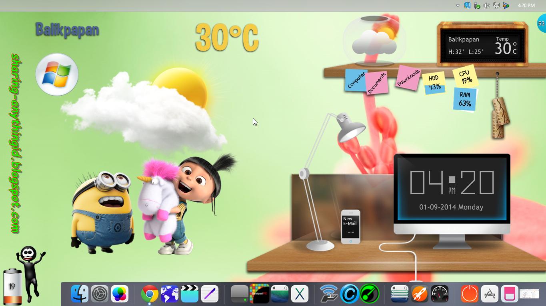 Pecantik Desktop Dengan SKIN PACK   Software review - INFO