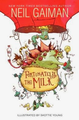 http://www.amazon.com/Fortunately-Milk-Neil-Gaiman/dp/0062224077/ref=sr_1_1?s=books&ie=UTF8&qid=1399474529&sr=1-1&keywords=fortunately+the+milk