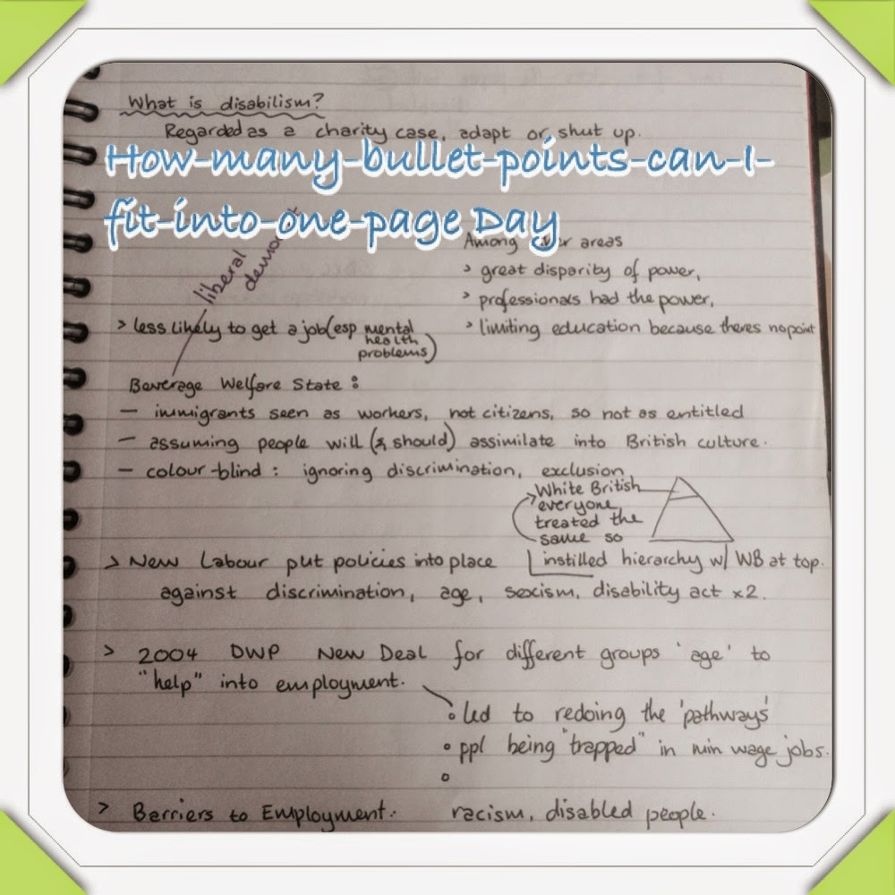 bullet point note taking essay