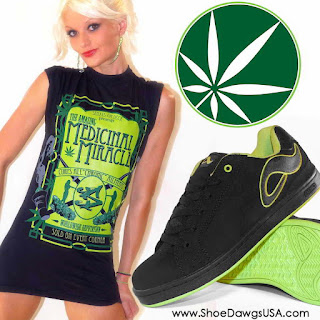 The Medicinal Miracle T-Shirt and Adio Shoe: Eugene Final Shoe Black - Neon Green