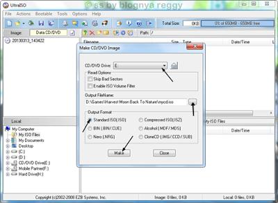 cara convert cd ps1 atau dvd ke file .iso